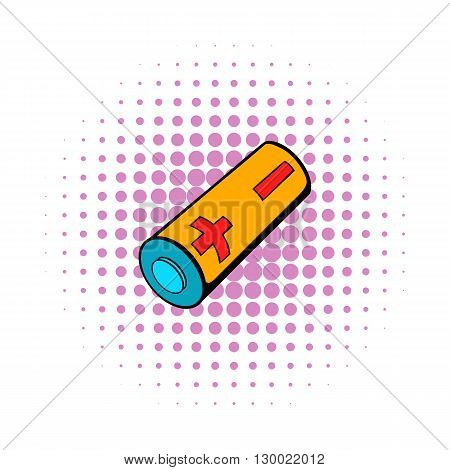Electronic cigarette battery icon in comics style isolated on white background