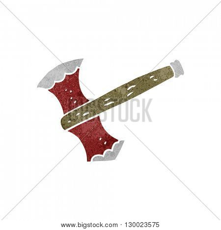 freehand retro cartoon axe