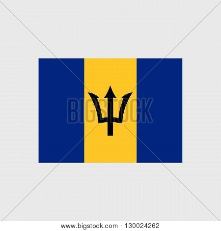 Set of vector icons with Barbados flag