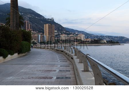 Monaco, Monaco - May 19: This is quay of Monte Carlo which built the Walk of Fame famous players with imprints of feet and autographs May 19, 2015 in Monaco, Monaco.
