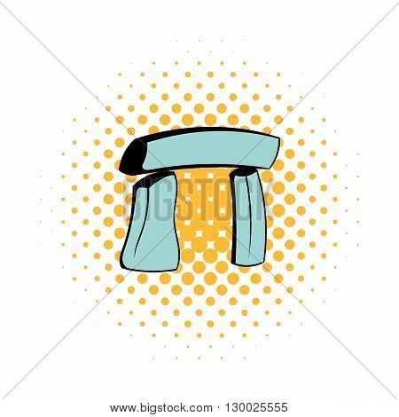 Stonehenge icon in comics style on a white background