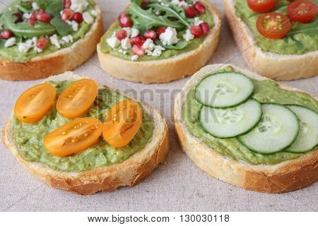 Mixed green sourdough open face sandwiches toasttoning