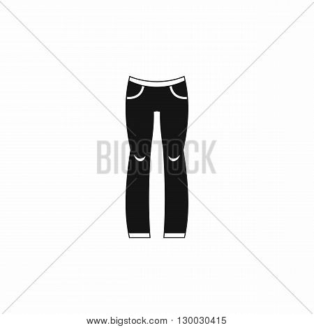 Woman trousers icon in simple style on a white background