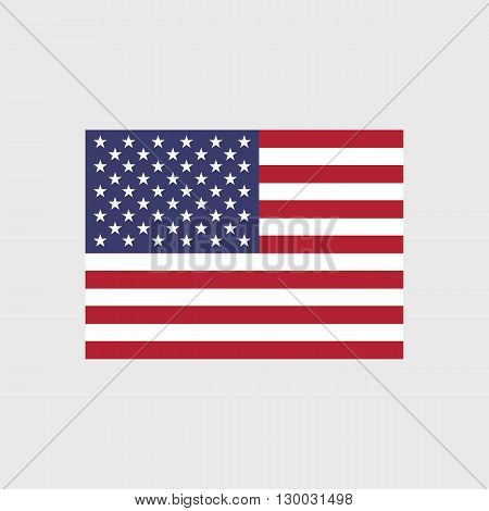 Set of vector icons with flag of the United States of America