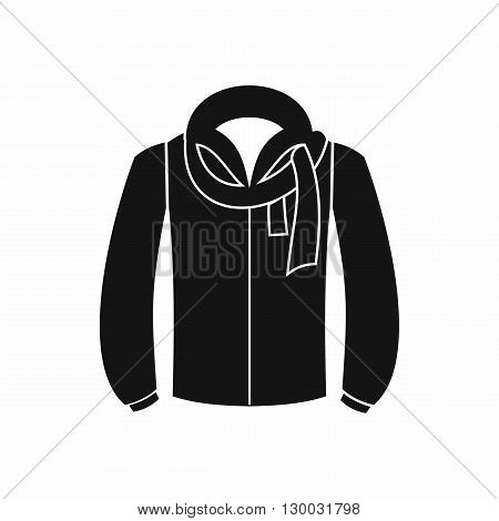 Jacket icon in black simple style isolated on white background