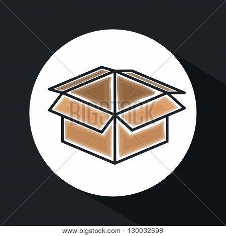 box carton icon design, vector illustration eps10 graphic