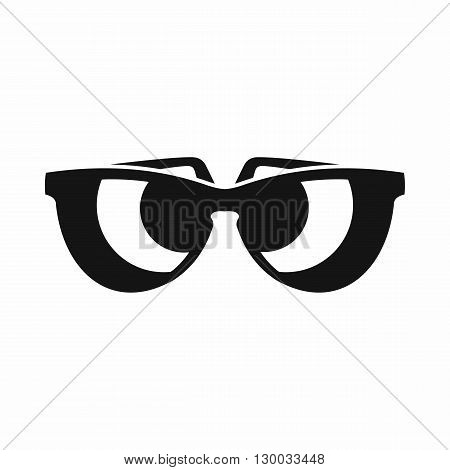 Sunglasses icon in simple style isolated on white background. Summer and heat symbol