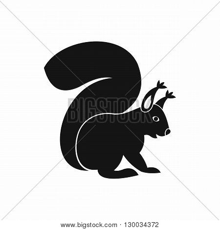 Squirrel icon in simple style on a white background