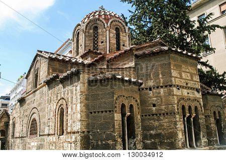 old church Kapnikarea in Athens in Greece