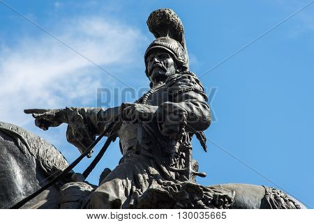 statue of general Theodoros Kolokotronis in Athens