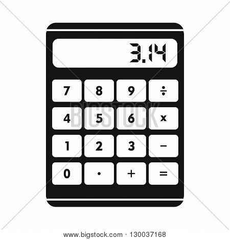 Calculator icon in simple style on a white background
