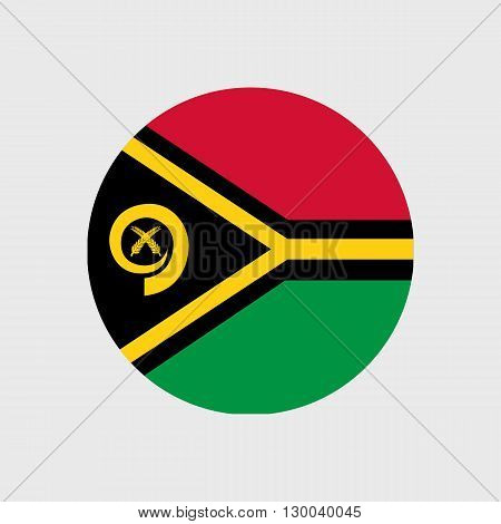 Set of vector icons with Vanuatu flag