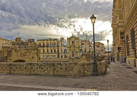 Lecce Piazza Sant'Oronzo square saint Orontius Old Town