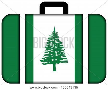 Flag Of Norfolk Island. Suitcase Icon, Travel And Transportation Concept
