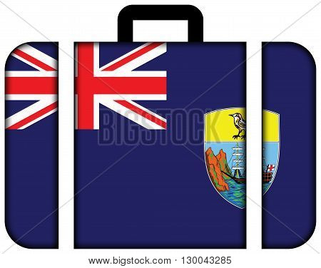 Flag Of Saint Helena. Suitcase Icon, Travel And Transportation Concept