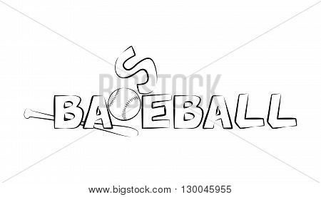 illustration on the theme of sport and a healthy lifestyle - baseball.illustration on the theme of sport and a healthy lifestyle - baseball.