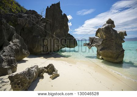 Private rocky getaway at Banol Beach, Coron, Philippines