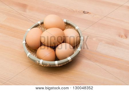 Egg in basket