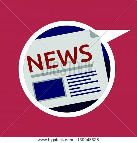 Web vector icon for news newsletter information