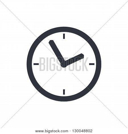 Clock Icon In Vector Format. Premium Quality Clock Symbol. Web Graphic Clock Sign On White Backgroun
