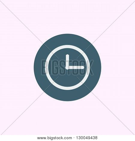 Clock Icon In Vector Format. Premium Quality Clock Symbol. Web Graphic Clock Sign On Blue Circle Bac