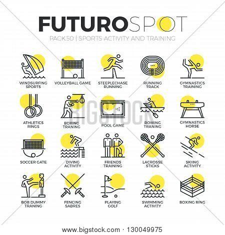 Sports Activity Futuro Spot Icons
