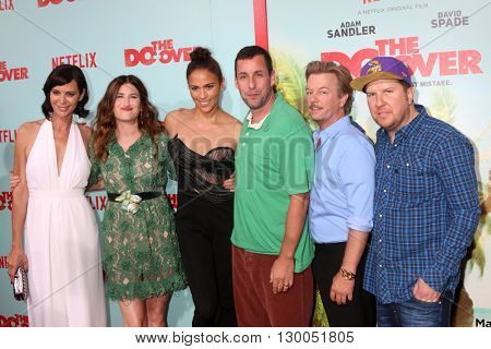 LOS ANGELES - MAY 16:  Catherine Bell, Kathryn Hahn, Paula Patton, Adam Sandler, David Spade, Nick Swardson at the The Do-Over Premiere at the Regal 14 Theaters on May 16, 2016 in Los Angeles, CA