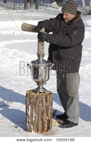 Assembling Of Samovar At Shrovetide