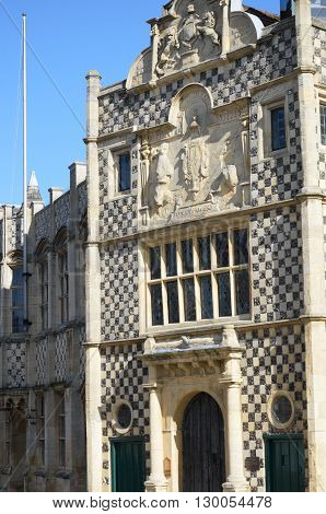 Ancient english guildhall kings lynn england uk