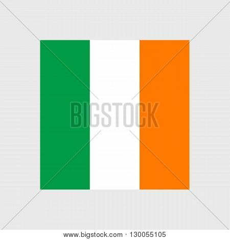 Set of vector icons with Ireland flag