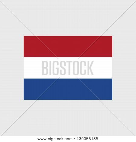 Set of vector icons with Netherlands flag