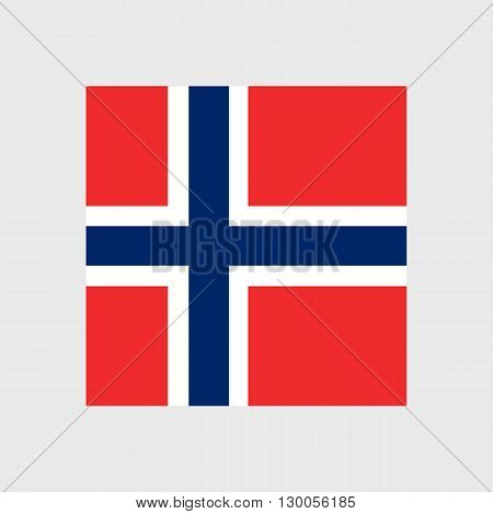 Set of vector icons with Norway flag
