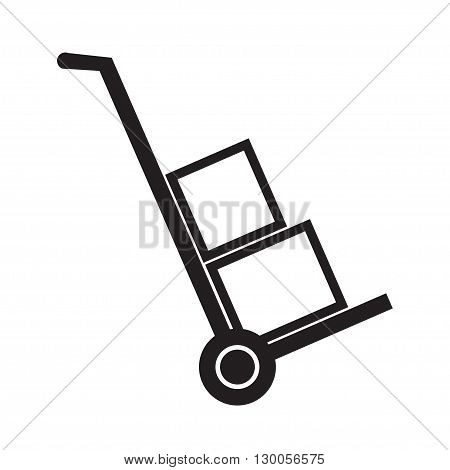 Hand truck simple vector icon. eps 10