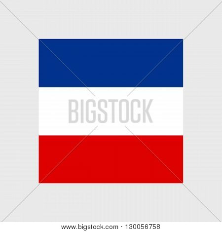 Set of vector icons with Slavic flag