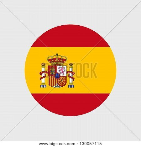 Set of vector icons with Spain flag