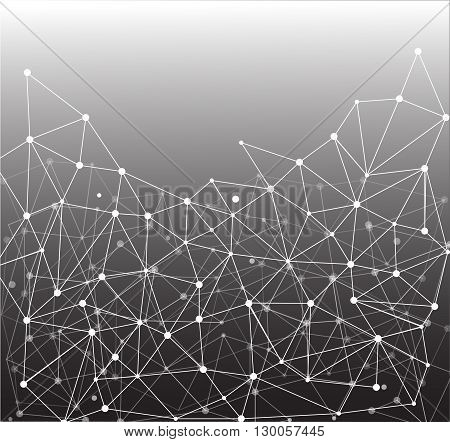Abstract backgroung with connecting dots and lines. Vector illustration