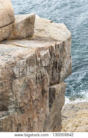 Otter Cliff looms over Gulf of Maine waters in Acadia National Park