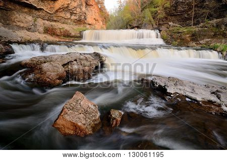 Willow River Falls at Willow River State Park in Wisconsin