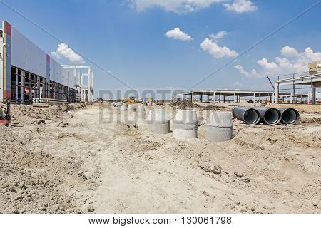 Concrete reinforcement pipe for drainage waste water from resident.