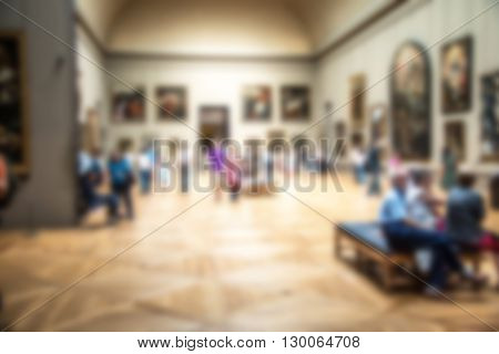 museum background with an intentional blur effect applied
