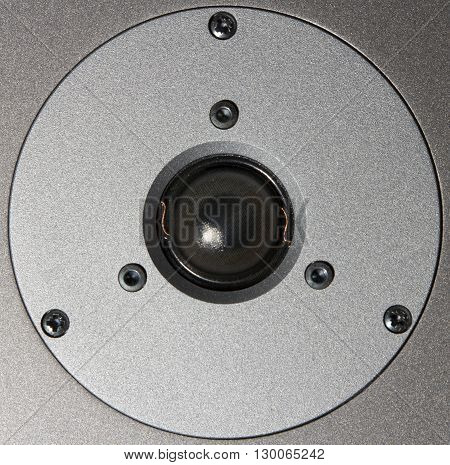 Speaker music loudspeaker closeup. Sounds of music