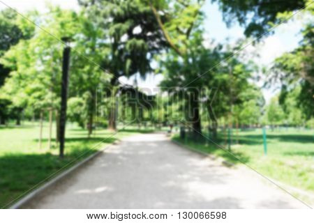 background of park in the city with intentionally blur filter
