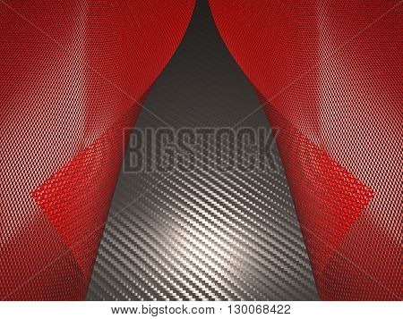 metal grill background 3d image