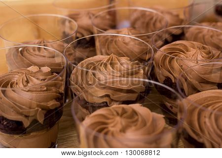 Delicious Dessert Of Chocolate Mousse