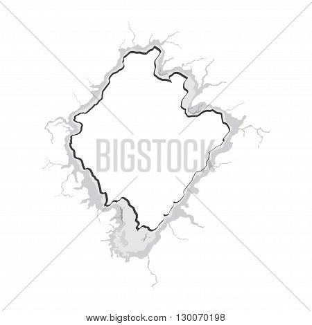 Crack in wall. Vector illustration. Hole in the wall. Abstract background of hole. Hole with cracks. Hole design element. Cracks design element. Crack in wall. Vector illustration. Hole in the wall.