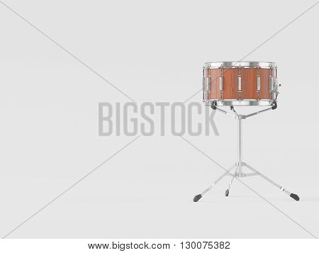 Orchestra Small drum on white  background 3D rendering