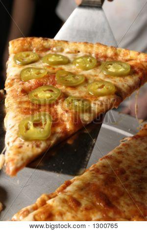 Pepper Pizza Serving Closeup