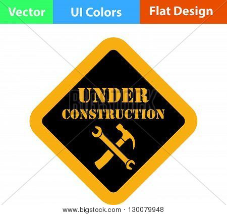 Flat Design Icon Of Under Construction