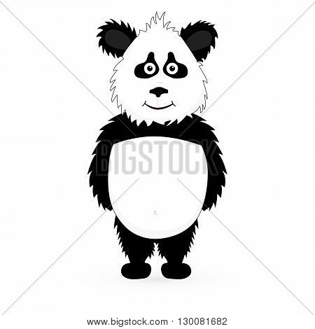 Vector Cutte Panda bear standing on white background