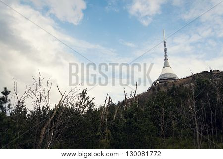Telecommunication Transmitters Tower On Jested, Liberec, Czech Republic